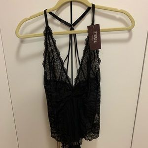 True and co lace bodysuit